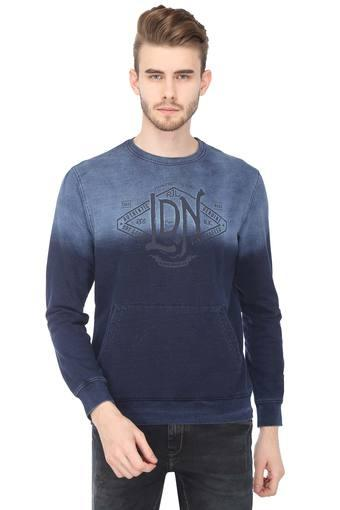 Mens Round Neck Ombre Sweatshirt