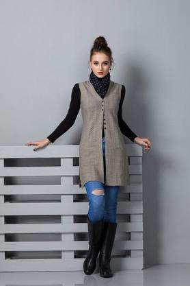 APSLEYWomens V-Neck Knitted Pattern Cardigan