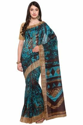 RACHNA Womens Printed Bhagalpuri Silk Saree - 204088350_9126