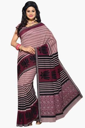 DEMARCA Womens Cotton Blend Printed Saree - 203229444