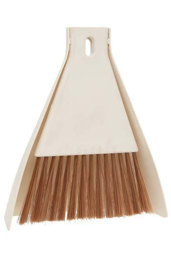 Conical Solid Dust Pan with Brush