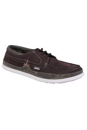 Mens Leather Laceup Sneakers