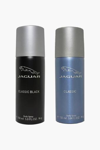 Classic Black body Sprays And Classic body Sprays For Men - 150ml - Pack Of 2