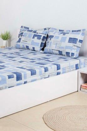 HOUSE THISPrinted Double Bed Sheet With 2 Pillow Covers - 203275934_9308
