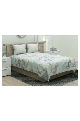 Floral Double Bed Sheet with Pillow Cover