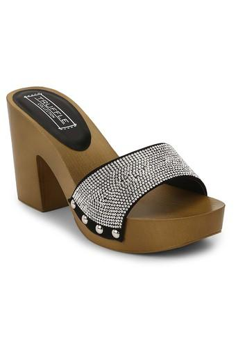 Womens Party Wear Slip On Heeled Sandals
