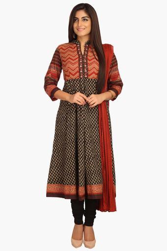 988762c5fb Buy BIBA Women Cotton Anarkali Suit | Shoppers Stop
