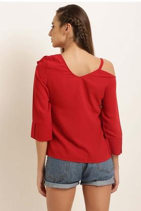 Womens Designer Neck Solid Top