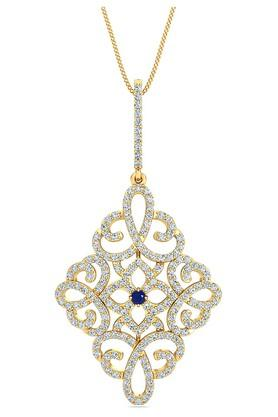 P.N.GADGIL JEWELLERS Womens Shining Crown Diamond Pendant - DDP1062