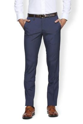 VAN HEUSEN Mens Slim Fit 4 Pocket Solid Formal Trousers - 203707890_9212