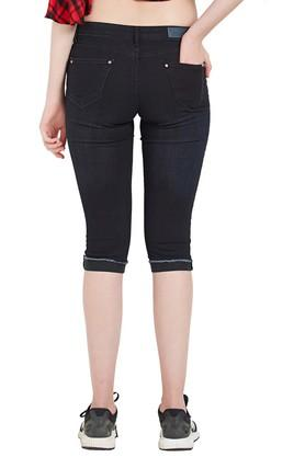 Womens Whiskered Effect Capris