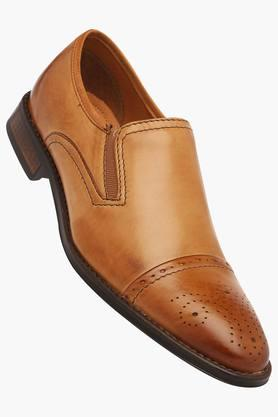 VENTURINI Mens Leather Slipon Loafers - 203017958
