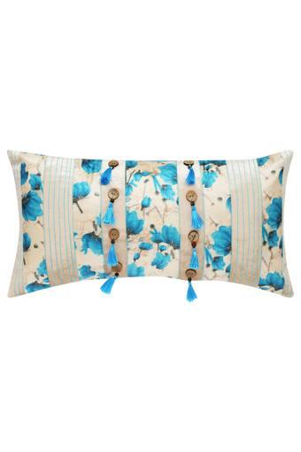 Rectangular Printed Tassel Cushion Cover