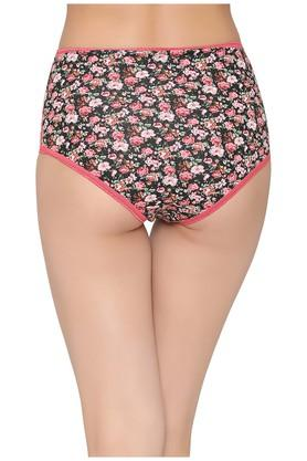 Womens High Waist Floral Print Hipster Briefs