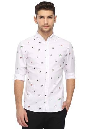 Mens Buttondown Collar Printed Shirt