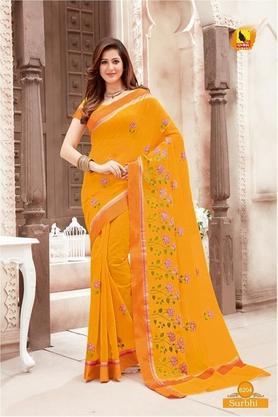 ASHIKAWomens Printed Saree With Blouse Piece - 204577036_9508