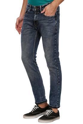 Mens 5 Pocket Stone Wash Jeans