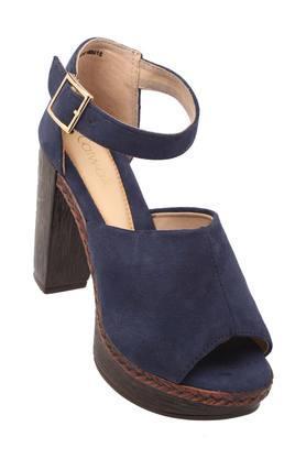 CATWALKWomens Party Wear Buckle Closure Heeled Sandals
