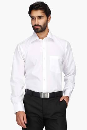 Mens Regular Collar Permapress Solid Shirt