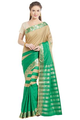 JASHN Womens Colourblocked Art Silk Saree