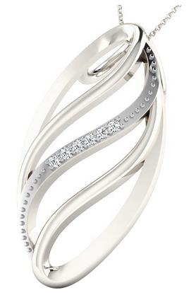 SILVER IMPRESSIONSparkles 18 Kt 0.02 Cts Diamond Pendant - P9246