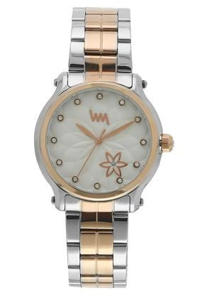 Womens Silver Dial Stainless Steel Analogue Watch - LWWI105A