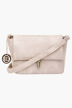ELLIZA DONATEIN Womens Metallic Lock Closure Slingbag