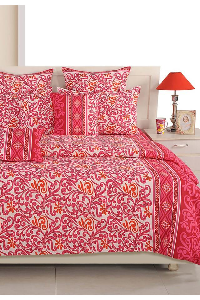 Pink and White Floral Single AC Comfortor