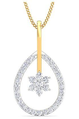 P.N.GADGIL JEWELLERSWomens Majestic Pear Diamond Pendant - DDT008PD151