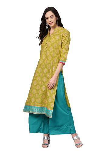 VARANGA -  Lemon Salwar & Churidar Suits - Main