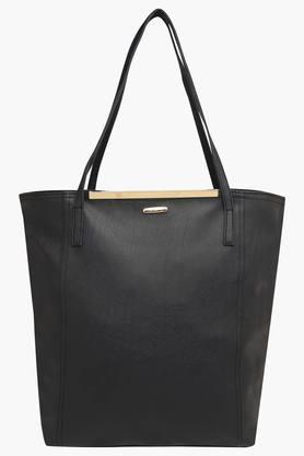 HAUTE CURRYWomens Zipper Closure Tote Handbag