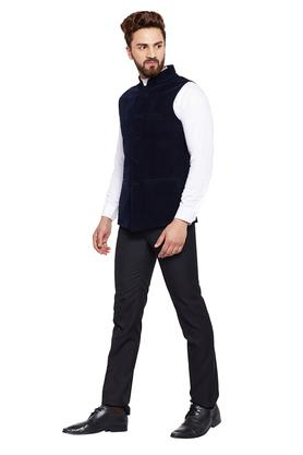 Mens Solid Slim Fit Nehru Jacket