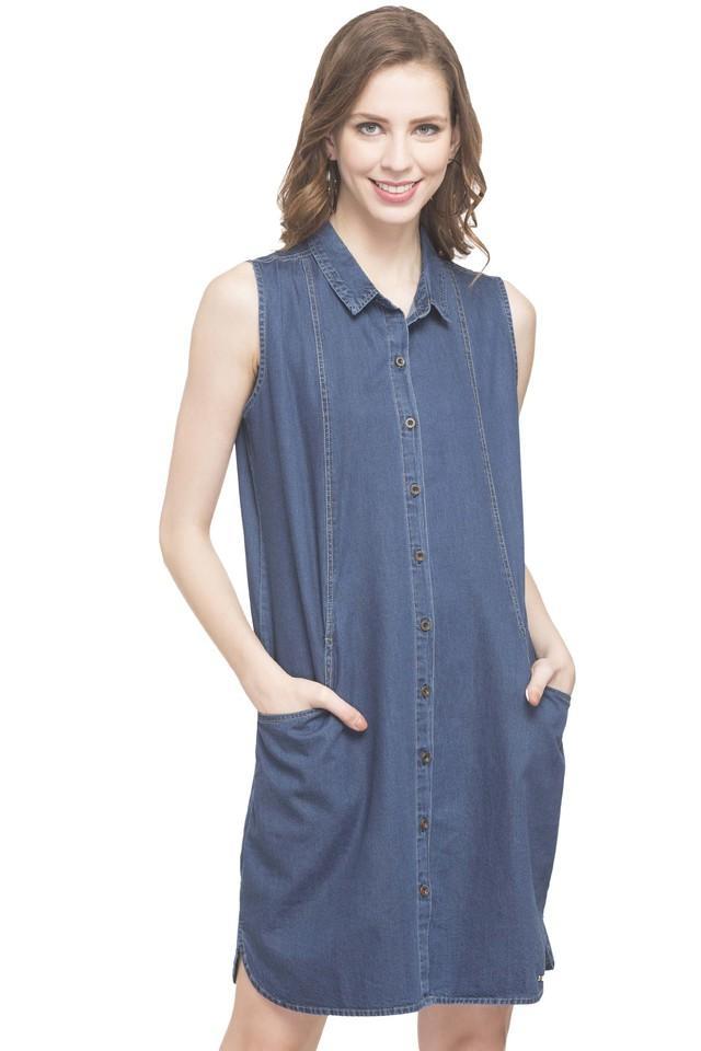 Womens Collared Shirt Dress