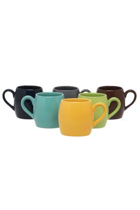 Pierre Round Multicolour Mugs - Set of 6