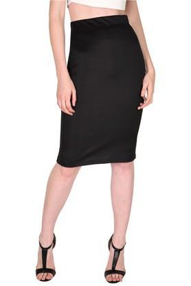SASSAFRASWomens Slim Fit Solid Pencil Skirt