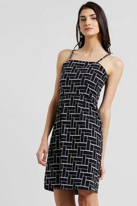 Womens Spaghetti Neck A-Line Dress