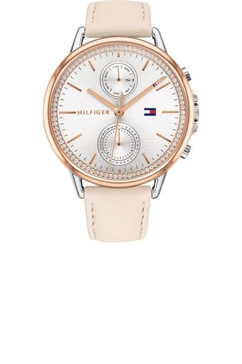 Womens Chronograph Leather Watch - TH1781913