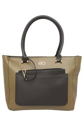 E2O Womens Zipper Closure Satchel Handbag - 204794950_9465