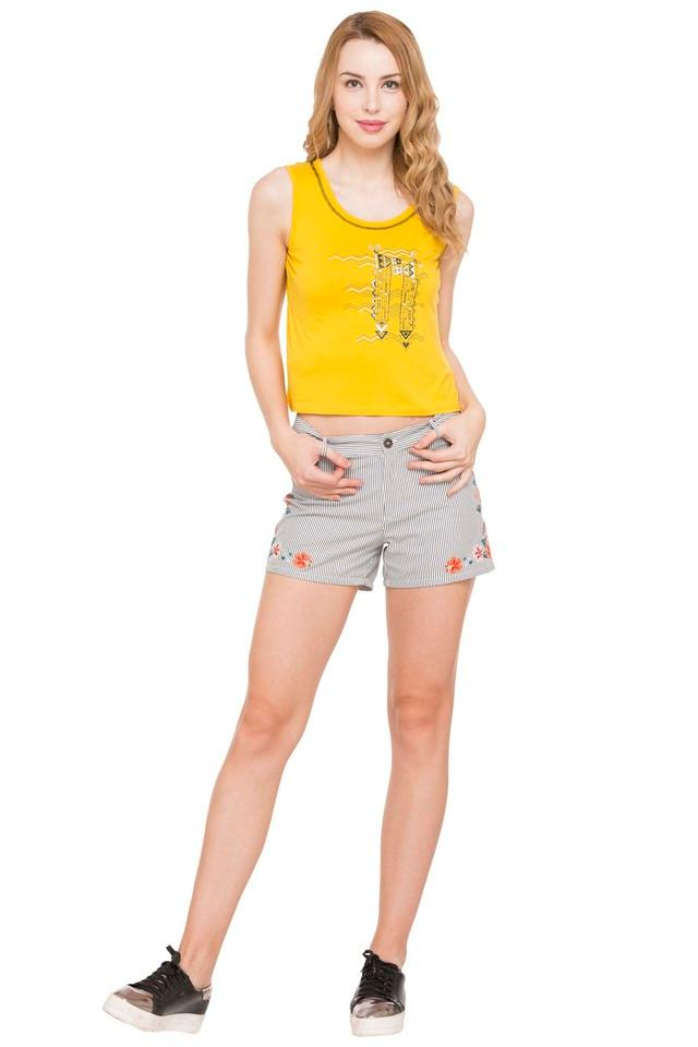 Womens Embroidered Shorts