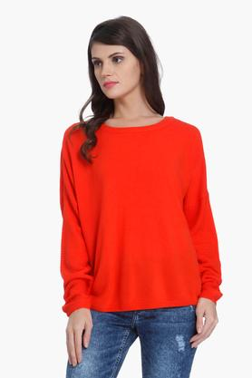 ONLY Womens Solid Casual Pullover - 202995111_8634