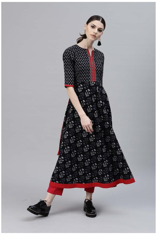 Women Cotton Printed Anarkali Kurta