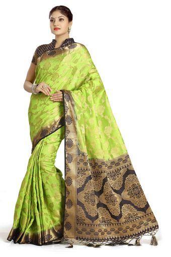 Womens Art Silk Tussar Designer Saree