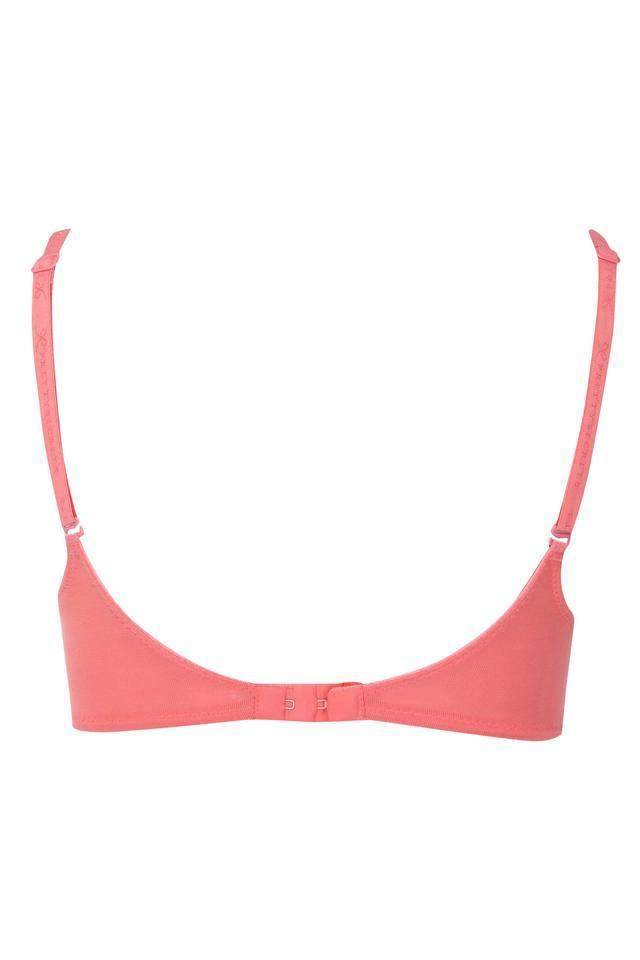 Womens Solid Non Padded Non Wired Plunge Bra