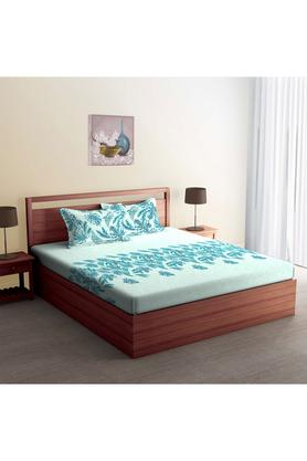 SPACESCotton Printed Double Bedsheet With 2 Pillow Covers - 204023093_9900
