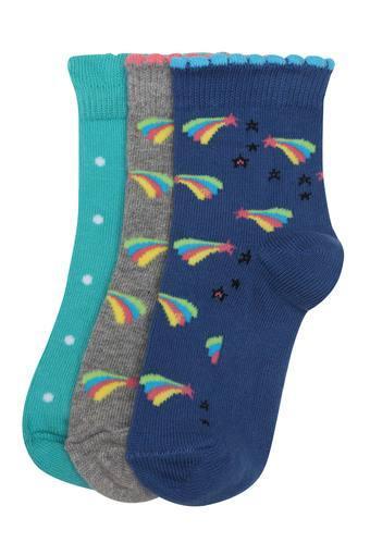 Girls Stars Printed Socks - Pack of 3