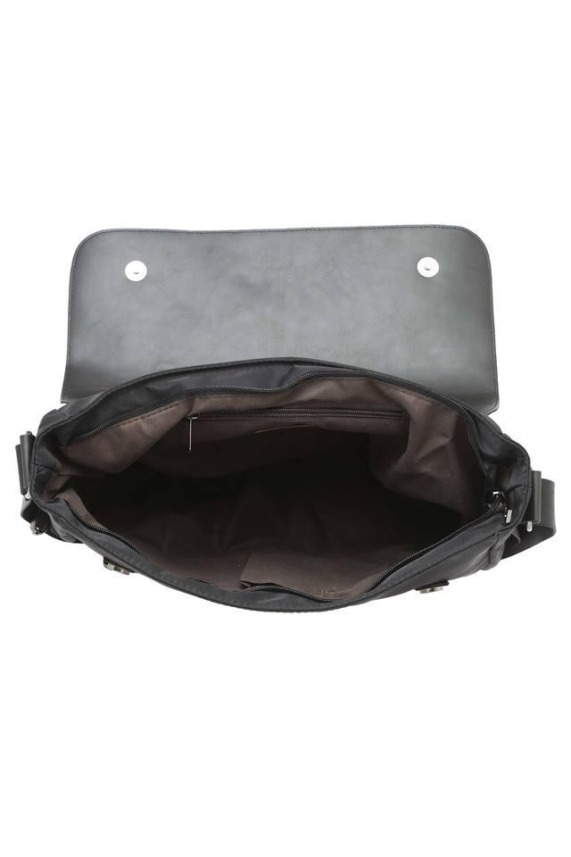 Mens Snap Closure Messenger Bag
