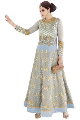 DEMARCAWomens Georgette Dress Material - 203984130_9308