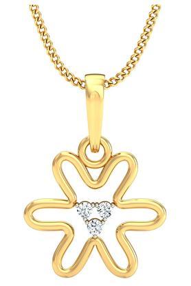 P.N.GADGIL JEWELLERSWomens Floweret Diamond Pendant DJPD-87