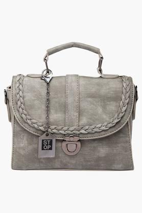 STOP Womens Metallic Lock Closure Slingbag
