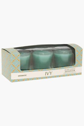 IVY Shot Glass Geranium Aromatic Candle Pack Of 3
